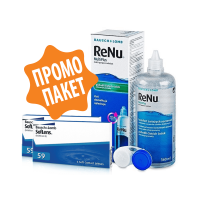 SofLens 59% - 6 броя + ReNu 360 ml