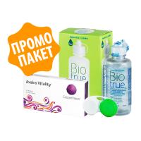 Avaira Vitality - 2 броя + разтвор BioTrue 120 ml