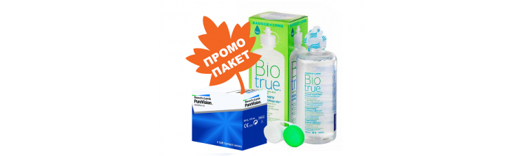 PureVision - 2 броя + BioTrue 120 ml