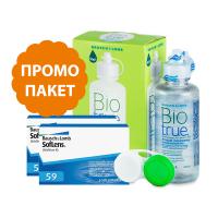 SofLens 59% - 6 броя + BioTrue 120 ml
