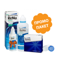 PureVision - 2 броя + ReNu 360 ml + 60 ml подарък